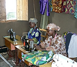 Trainees Sewing in New Workshop