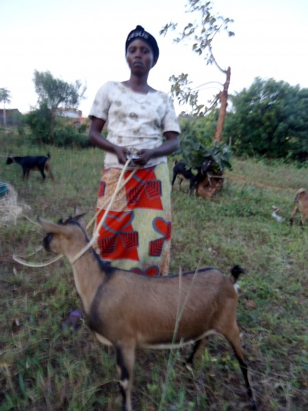 Beneficiary with Her Goat