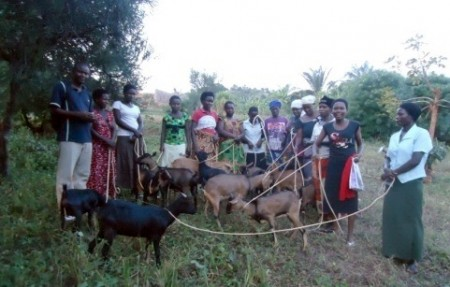 Women with Goats