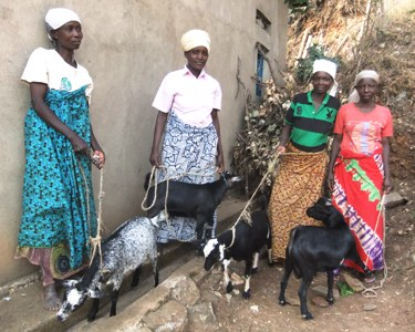Four New Recruits Receive Goats