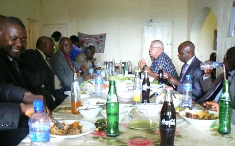 Luncheon Meeting Inside Brick House